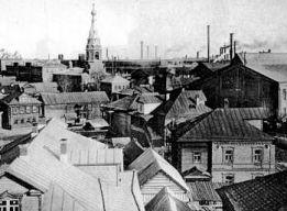 Вид на завод и Александро-Невскую церковь