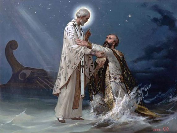 Спасение святителем Николаем морехода