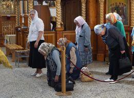 На молитве