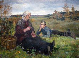А. Пешков с бабушкой