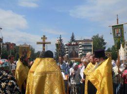 Молебен на площади