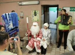 Дед Мороз и внучка
