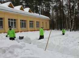 На снежном фронте