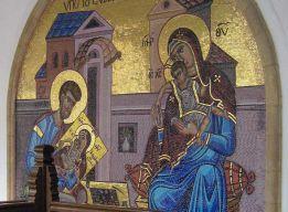 Св. Лука за работой. Мозаика