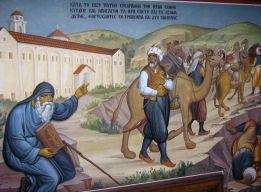 Наместник обижает Исайю. Фреска