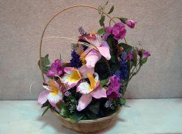 Корзиночка с орхидеями